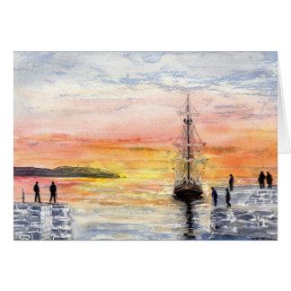 'Sunset Arrival' Card