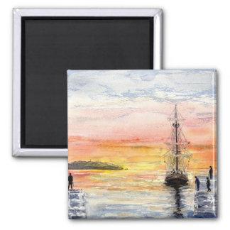 'Sunset Arrival' Magnet