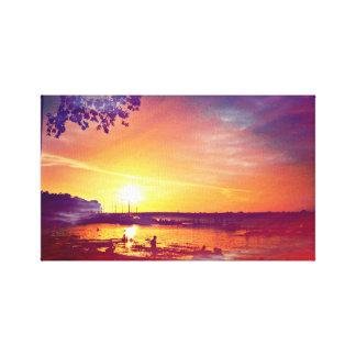 Sunset Artwork Canvas Print