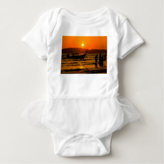 Sunset at Ao Nang beach Baby Bodysuit