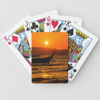 Sunset at Ao Nang beach Bicycle Playing Cards