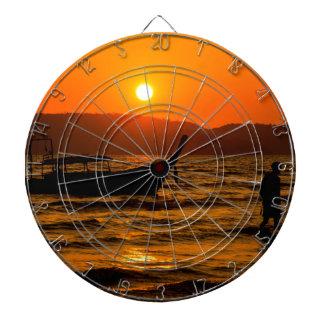 Sunset at Ao Nang beach Dartboard