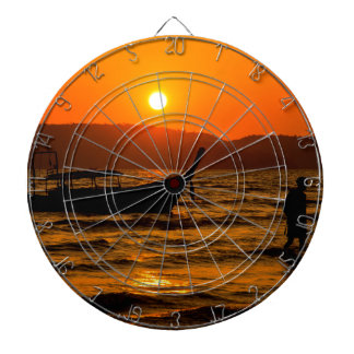 Sunset at Ao Nang beach Dartboard With Darts