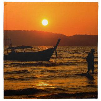 Sunset at Ao Nang beach Napkin