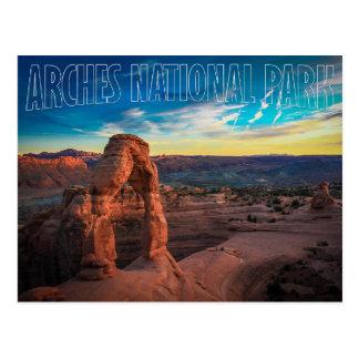 Sunset at Arches National Park, Utah Postcard