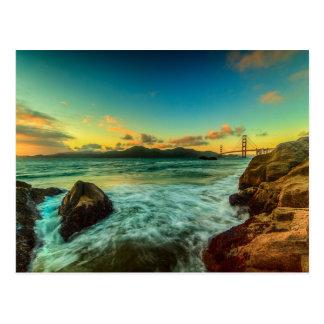 Sunset at Baker Beach Postcard