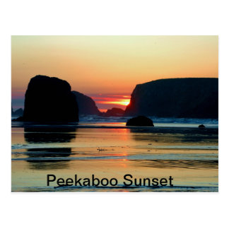 Sunset at Bandon, Oregon Postcard