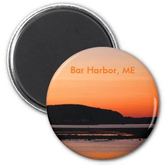 Sunset At Bar Harbor Magnet
