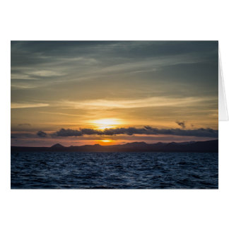 Sunset at Bartolome Island Card
