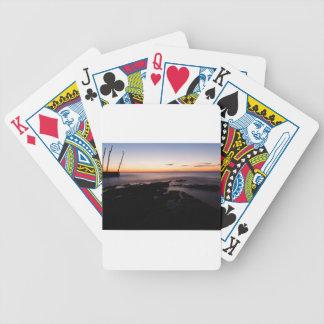 Sunset at basanija bicycle playing cards