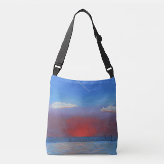 Sunset at Bayport Crossbody Bag