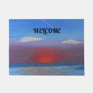 Sunset at Bayport Doormat