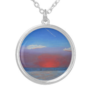Sunset at Bayport Silver Plated Necklace