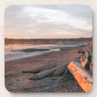 Sunset at Birch Bay Drink Coasters