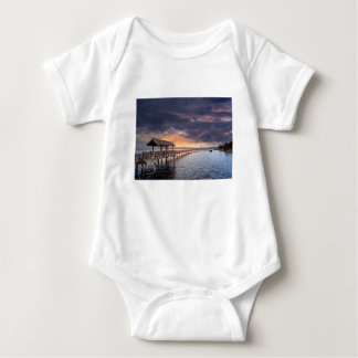 Sunset at Boulevard Park in Bellingham Washington Baby Bodysuit
