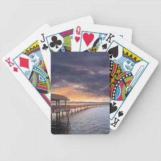 Sunset at Boulevard Park in Bellingham Washington Bicycle Playing Cards