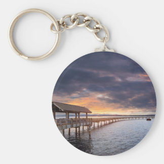 Sunset at Boulevard Park in Bellingham Washington Keychain