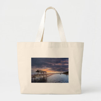 Sunset at Boulevard Park in Bellingham Washington Large Tote Bag