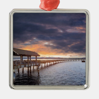 Sunset at Boulevard Park in Bellingham Washington Metal Ornament