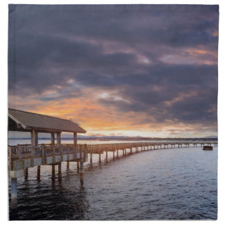 Sunset at Boulevard Park in Bellingham Washington Napkin