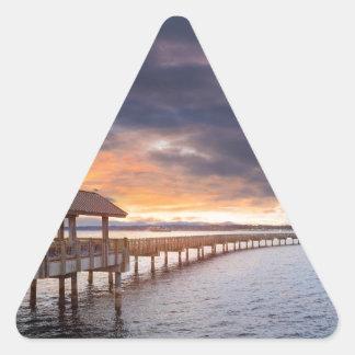 Sunset at Boulevard Park in Bellingham Washington Triangle Sticker