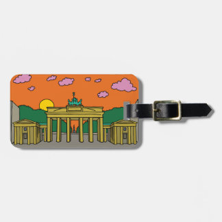 Sunset at Brandenburg Gate in Berlin Luggage Tag