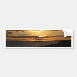 Sunset At Brighton Beach Bumper Sticker