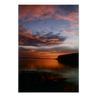 Sunset at Buster's Cove Poster