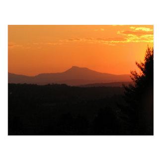 Sunset At Camel's Hump Postcard