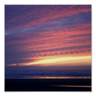 Sunset at Cannon Beach Poster