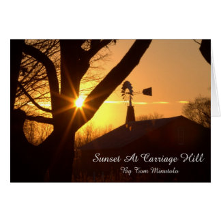 Sunset At Carriage Hill Blank Greeting Card