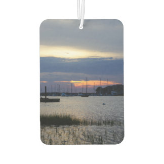 Sunset At Folly Harbor Car Air Freshener