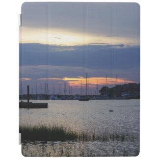 Sunset At Folly Harbor iPad Cover