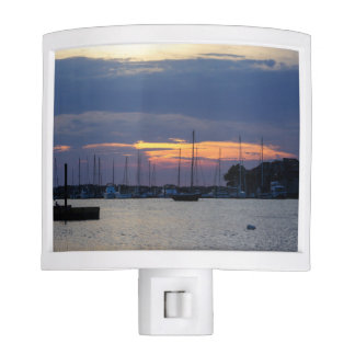 Sunset At Folly Harbor Nite Lights