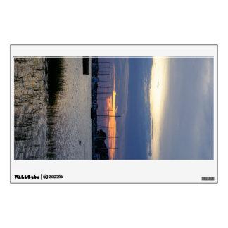 Sunset At Folly Harbor Wall Sticker