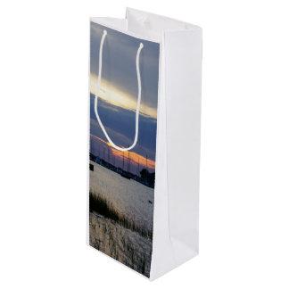 Sunset At Folly Harbor Wine Gift Bag