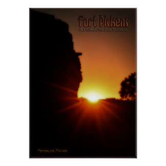 Sunset at Fort Pickens Poster