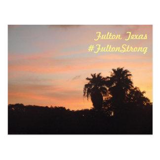 Sunset at Fulton Community Church Postcard