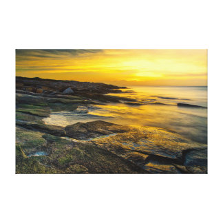 Sunset at Halibut Point Canvas Print