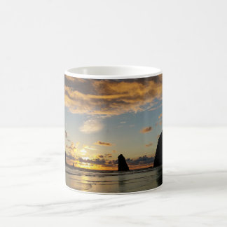 Sunset at Haystack Rock and the Needles Coffee Mug