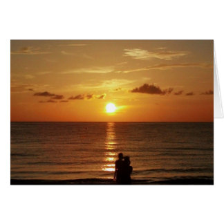 Sunset at Indian Rocks Beach - Love/Valentine Card