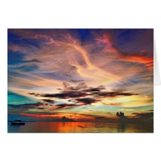 Sunset at Kei Kecil Card
