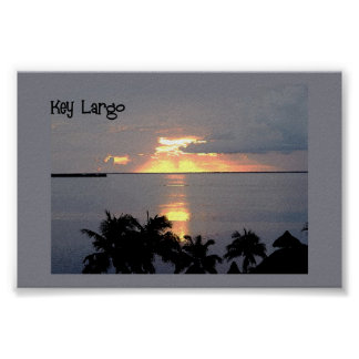 Sunset at Key Largo  Poster