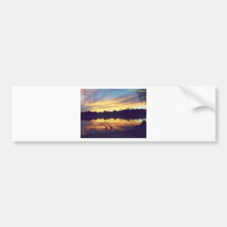 Sunset at Lake Bumper Sticker
