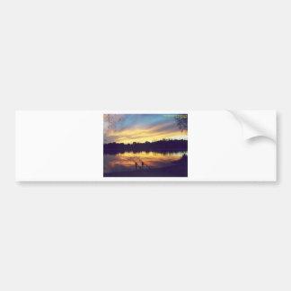 Sunset at Lake Bumper Stickers