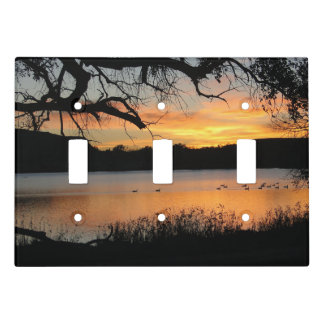 Sunset at Lake Scott State Park Light Switch Cover