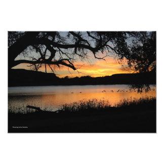 Sunset at Lake Scott State Park Photo
