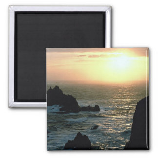 Sunset at Land's End at the Cornish Riviera Magnet