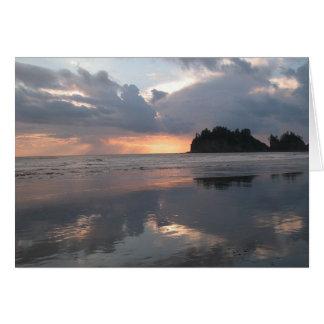 Sunset at LaPush Card