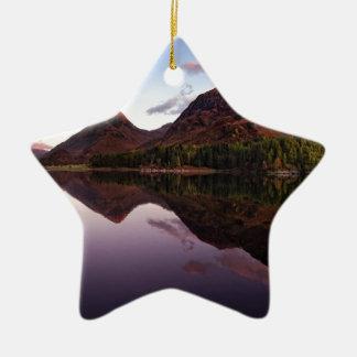 Sunset at Loch Leven, Scotland Ceramic Ornament